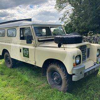 Vintage jeep for farm tours