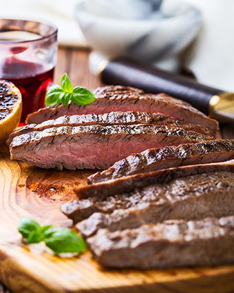 Succulent steak in our meat boxes